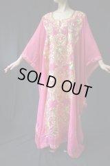 ハリージドレス 鮮やかなピンク