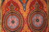 エジプト柄布 フリンジ付き 115×135 ⑵