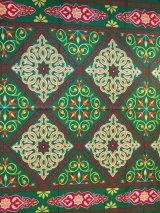 エジプト柄布 グリーン 幅137cm×1m〜