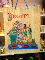 エジプト製 手提げ袋Mサイズ 猫と狩りの様子
