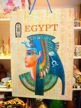 エジプト製 手提げ袋Lサイズ クレオパトラ